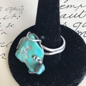 hellmut cordes Jewelry - Turquoise nugget ring sterling silver size 8